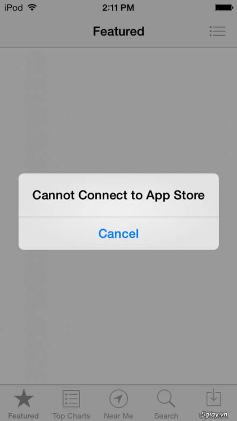 "Fix loi ""Cannot connect to App/iTunes Store"" tren iOS 7"