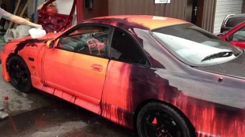 Giới thiệu công nghệ sơn xe đổi màu cực độc