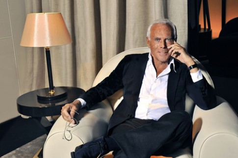 Giorgio Armani tuc gian vi tong bien tap Vogue bo xem show