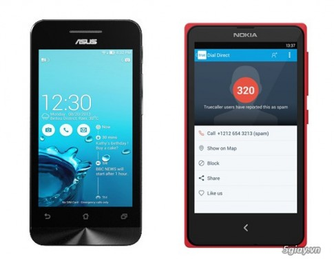 Hai Android gia re Nokia X va Asus Zenfone 4 so gang