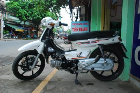 Honda Dream trắng sữa độ kiểng