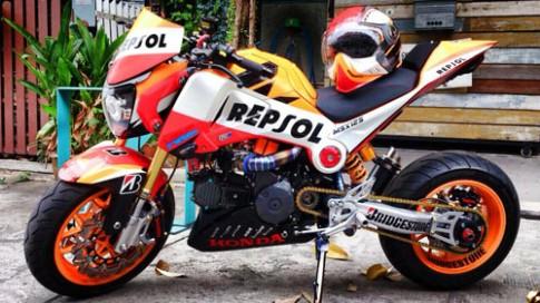 Honda MSX 125 do phong cach sportbike