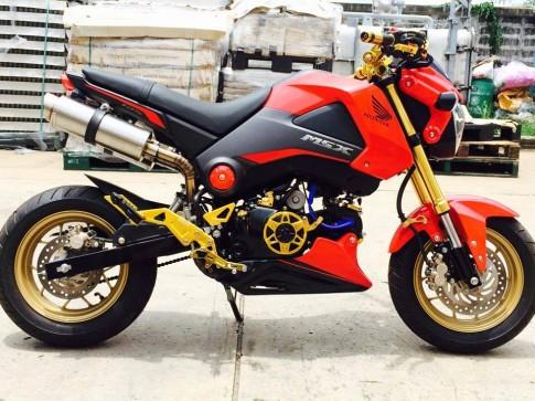 Honda MSX do 2 po dut dit doc dao cua dan choi Thai