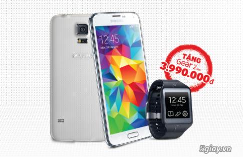 HOT SALE | Mua Samsung Galaxy S5 tang Gear 2 Neo (11/04/2014)