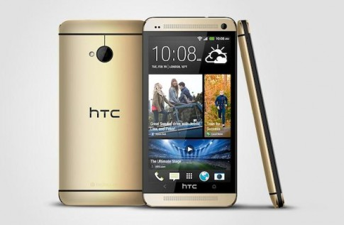 HTC One mau vang sam panh an theo iPhone 5s Gold