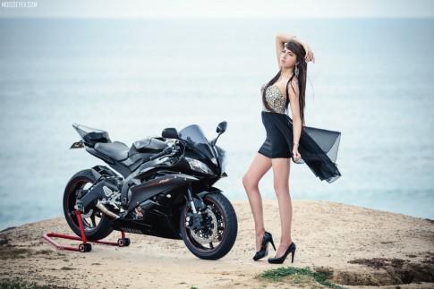 Hung than Yamaha R6 sieu ngau ben co nang xinh dep