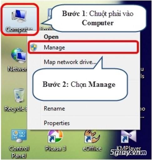 Huong dan chia o cung tren Windows 7 khong mat du lieu, khong can phan mem ho tro..
