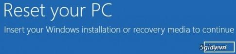 Huong dan Refresh va Reset Windows 8 khong can dung dia cai dat