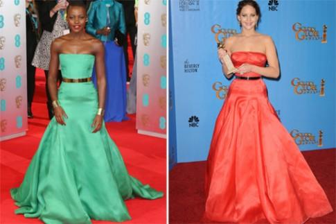 Jennifer Lawrence va Lupita Nyong'o do phong cach tham do