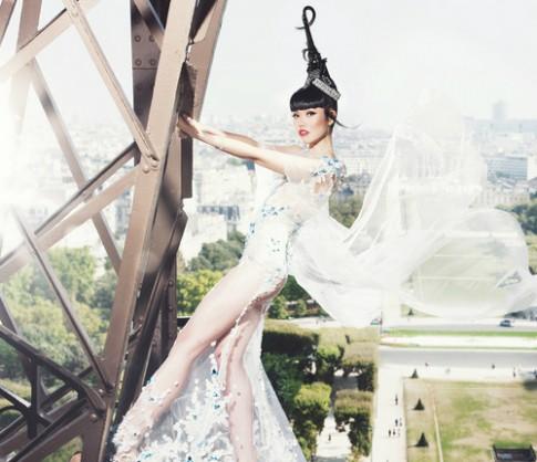 Jessica Minh Anh lam san catwalk tren song New York