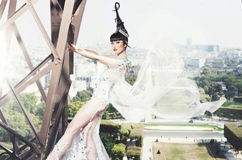 Jessica Minh Anh mời Hoàng Hải diễn thời trang trên tháp Eiffel