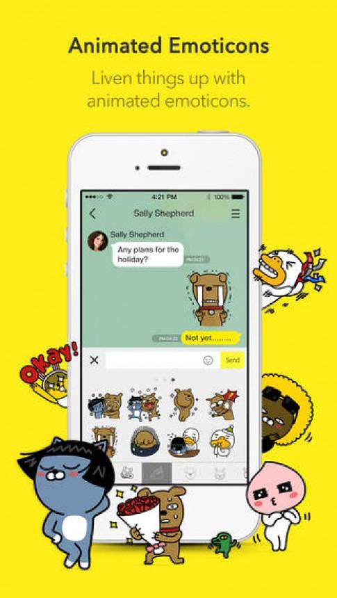 KakaoTalk Messenger 4.0 phang hon tren iOS 7