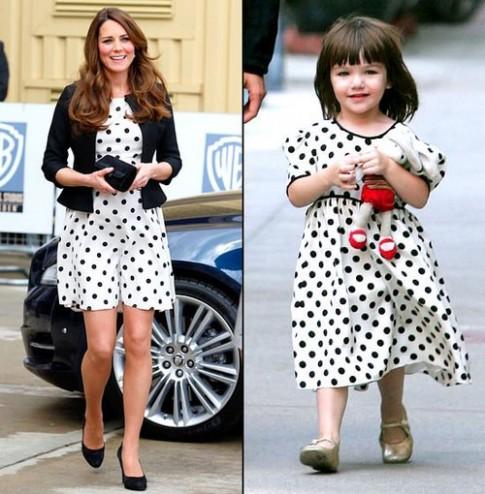 Kate Middleton va Suri Cruise 'dung phong cach'