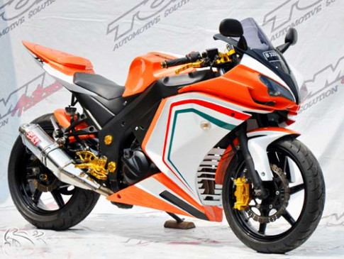 Kawasaki Ninja 250R do phong cach Ducati 848 tai Indonesia