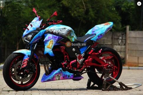 """Kawasaki Ninja Z250 do phien ban """"kim cuong den"""""""