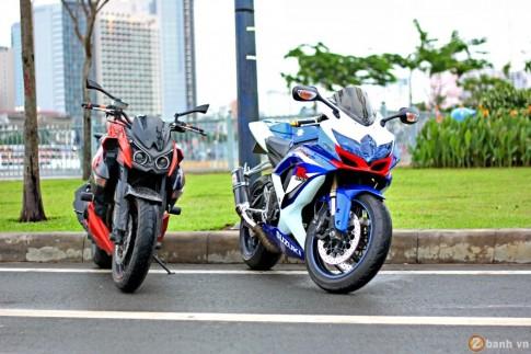Kawasaki Z1000 so dang cung Suzuki GSX R600