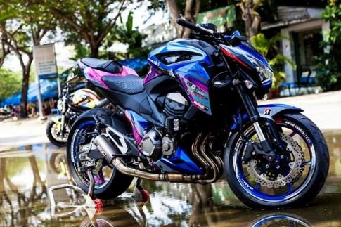Kawasaki Z800 dan ao son tem doc la cua biker Sai Gon
