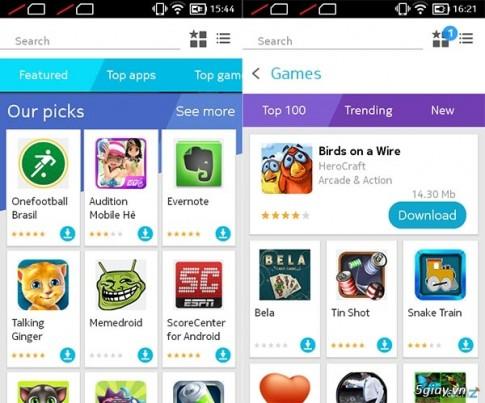 Kho ứng dụng Android cho dòng Nokia X, X và XL