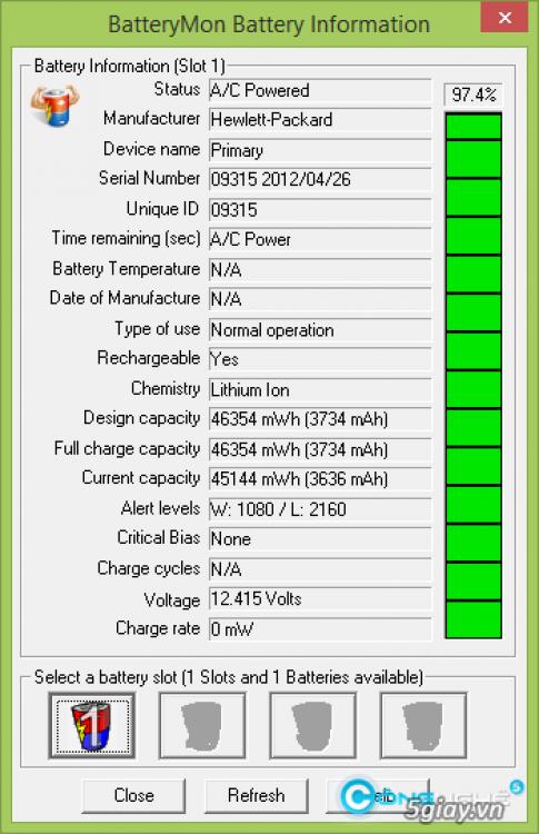 Kiem tra pin laptop cuoi tuan chinh xac cung BatteryMon 2.1