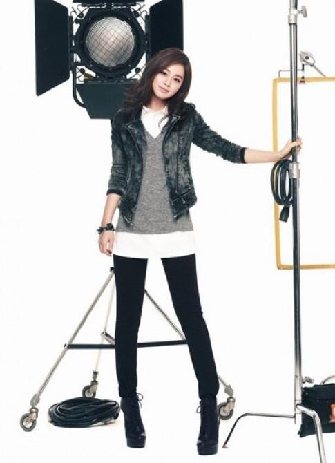 Kim Tae Hee khoe net thanh tan