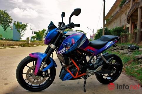 KTM Duke 125 độ cực độc với phiên bản Stitch của biker Bình Dương