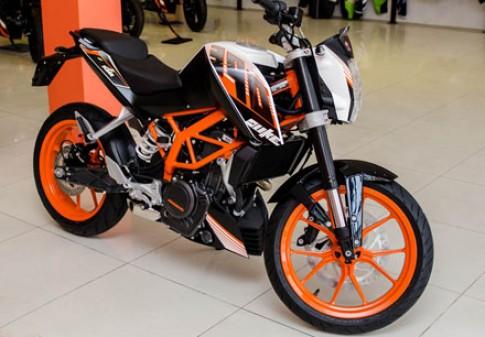 KTM Duke 390 co gia khoang 190 trieu dong