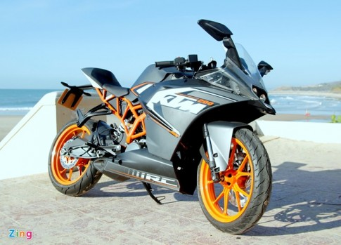 Lai thu KTM RC 200 Chiec xe sportbike gia re