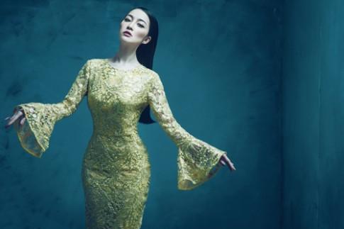Linh Nga kiêu sa với váy ánh kim