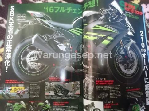 Lo anh Kawasaki ZX-10R 2016 tren tap chi Nhat Ban
