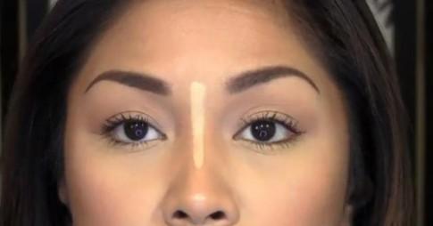 Mẹo đơn giản tạo sống mũi thon gọn