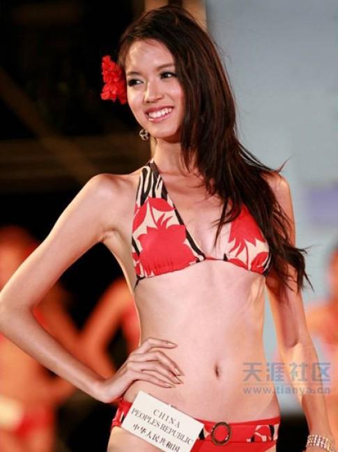 Miss World China bỏ phần thi áo tắm