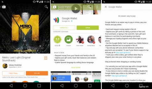 Mời tải về Google Playstore phiên bản mới: Material Design