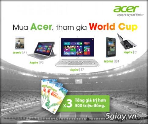 Mua san pham Acer, co co hoi den Brazil xem World cup