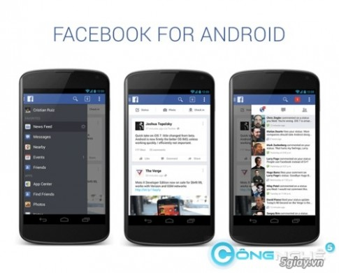 Ngam nhin ban concetp ung dung Facebook cho Android tuyet dep