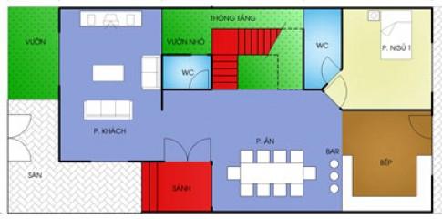 Nhà 3 tầng diện tích 8 x 18 m