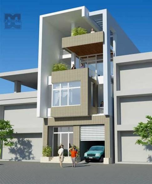 Nhà ở kết hợp văn phòng trên đất 8 x 19,5 m