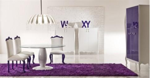 Những căn phòng màu tím sang trọng