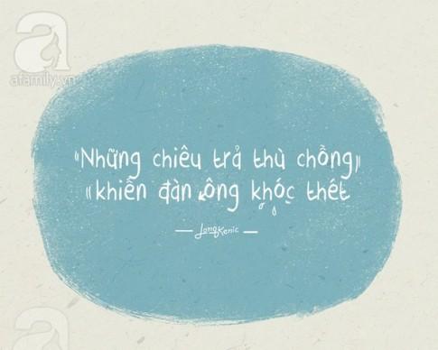 "Nhung chieu tra thu ba dao cua cac ba vo khien chong ""khoc thet"""