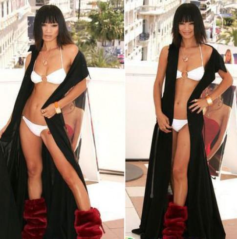 Nhung tham hoa thoi trang cua sao chau A o Cannes
