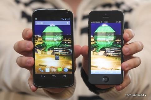 Những ưu điểm của LG Nexus 5 so với iPhone 5S