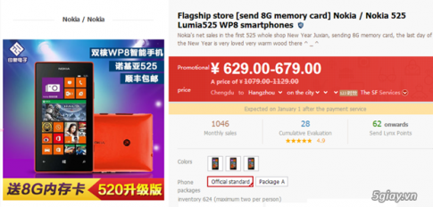 Nokia Lumia 525 giam gia manh chi con $103