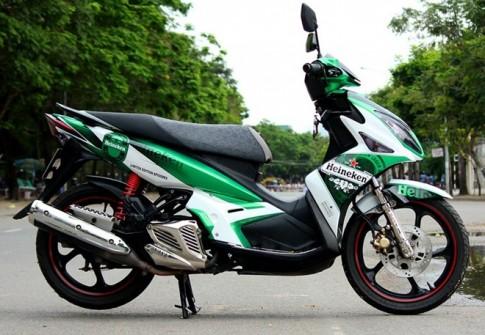 Nouvo LX ve airbrush logo Heineken cua nu biker Dong Nai