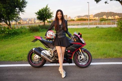 Nữ sinh 9x Đài Loan xinh đẹp và cá tính với niềm đam mê xe PKL