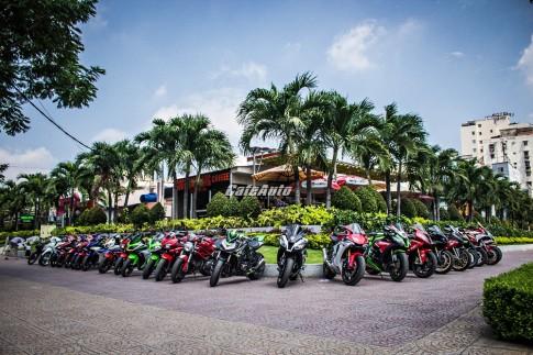 Offline CLB Sport Team SG nơi quy tụ hàng chục mô tô siêu khủng