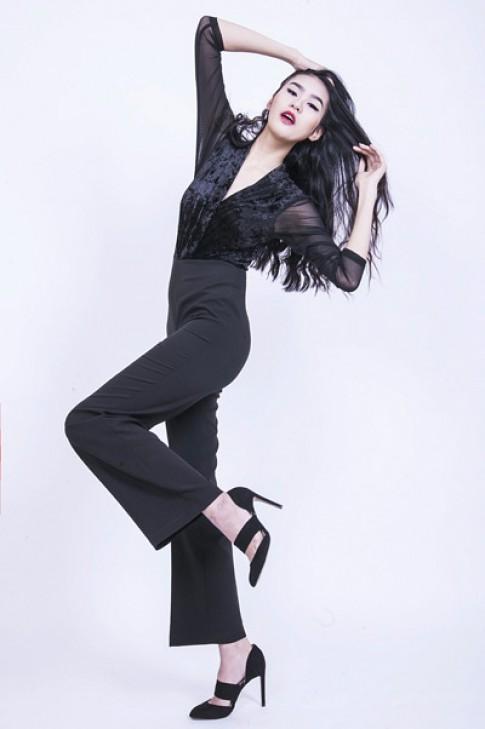 Phan Hà Phương biến hóa với trang phục đen