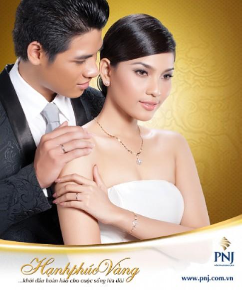 PNJ gioi thieu bo trang suc cuoi 'Hanh phuc vang 2012'