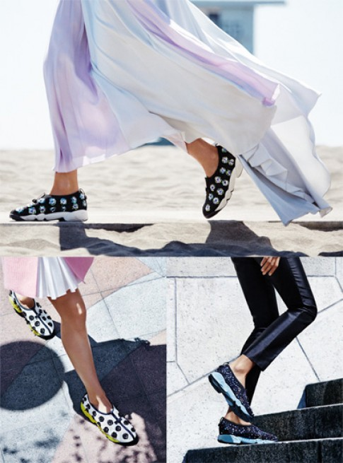 Quy trinh san xuat giay fusion sneakers cua Dior