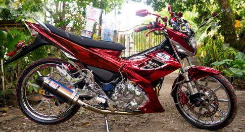 "Raider 150 do cua nha ""Racing Boy"""