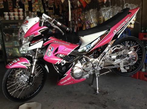 Raider trắng hồng Racing Teen