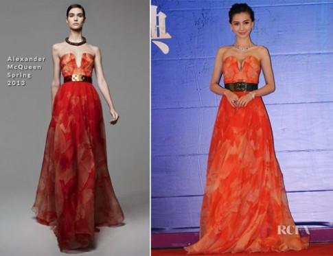 Sao gốc Hoa thể hiện đẳng cấp bằng váy hàng hiệu